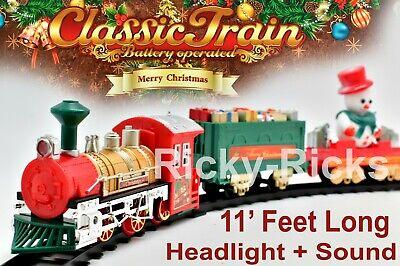 Christmas Tree Train Set Polar Kids Toy Toddler Whistle Train Tracks Village