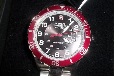 NET Wenger Swiss army Classic Executive Watch sport  79316 red black face ()