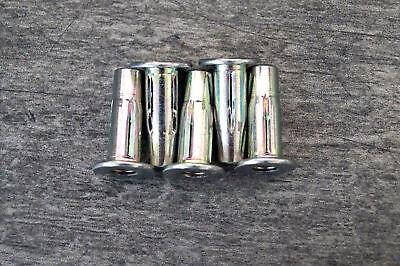 geschlossen 0,5-3mm Blindnietmuttern M5 Stahl verz 50 Stk Flachkopf ger
