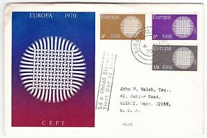 Ireland-Europa-1970-CEPT-Cacheted-First-Day-Cover