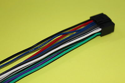 WIRE HARNESS FOR KENWOOD KMRD362BT KMR-D362BT *SHIPS TODAY*