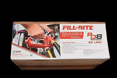 Fill-rite Rd812nh 12v Dc 8 Gpm Portable Fuel Transfer Pump With Hose Nozzle