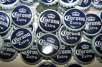 100 CORONA WHITE NAVY BEER BOTTLE CAPS NO DENTS CLEAN C STORE FREE FAST (Corona Store)