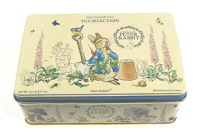 Gorgeous Peter Rabbit Tin with selection of Teas - 100 T-bags - Beatrix Potter