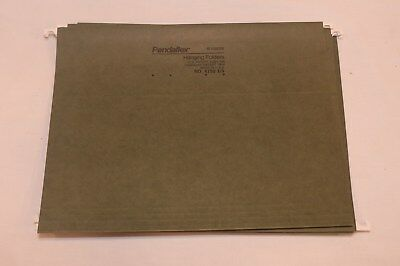 Lot Set Of 5 Green Pendaflex Letter Hanging Folders A