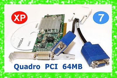 PCI Windows 7 DUAL Monitor Video Card. Driver CD. NVIDIA NVS280 +DRIVER CD