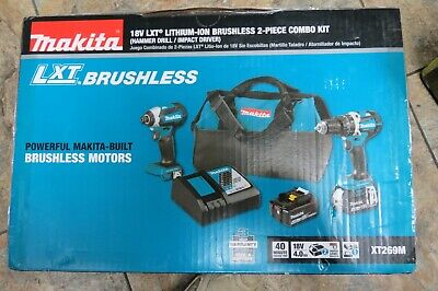 Makita 18v Brushless Cordless Hammer Drill Impact Driver Combo Kit Xt269m