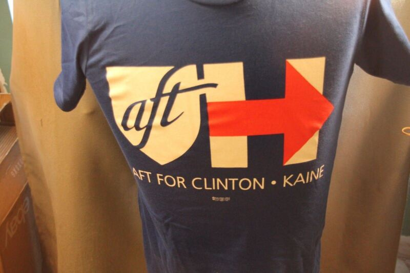 NWT Hillary Clinton T-shirt 2016 Election AFT Teacher Education Democrat 3X
