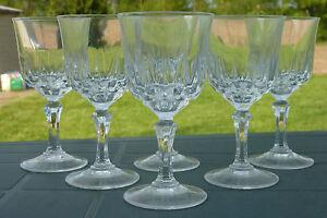 service de 6 verres ap ritif en cristal d 39 arques mod le saint germain ebay. Black Bedroom Furniture Sets. Home Design Ideas