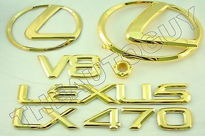 FOR 2007 LEXUS 24KT GOLD PLATED RX350 EMBLEM KIT