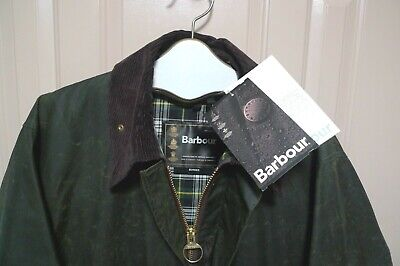 BARBOUR- A200 BORDER WAXED COTTON JACKET- NEW OLD STOCK & TAG-SAGE-MADE @ UK -46
