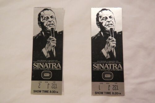 Vintage Pair FRANK SINATRA Oct.26th OPENING NIGHT at THE COLISEUM 2 Ticket Stubs