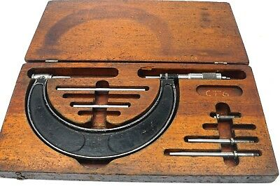 Brown Sharpe Vintage 2 - 6 Micrometer Interchangeable Anvil Set .001 Grad