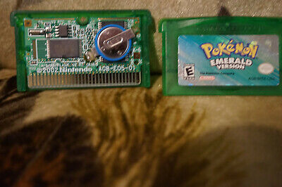 Pokemon Emerald GBA Authentic Gameboy Advance Battery Bad FREE SHIPPING