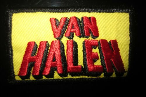 Vintage Van Halen Rock Music Patch In Mint Condition! Impossible Find!