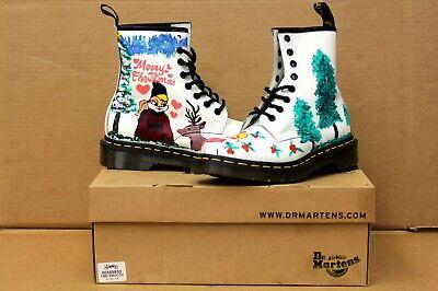 New - CUSTOM Christmas Lola Bunny Dr. Martens Women's 1460 Boots (White, Size 6) ()