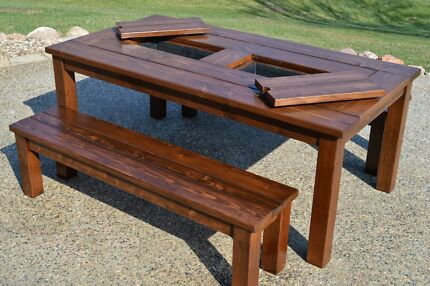Awesome Outdoor Dining Table With Built In Drinks Cooler Part 22