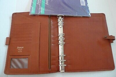 Filofax- Director - Leather Planner- Deskfax Size- 9 Rings- Made Italy- Rare
