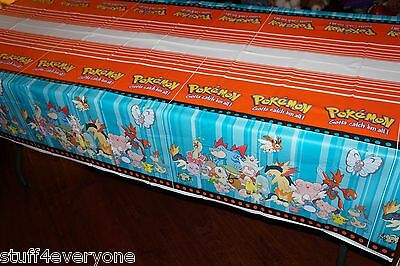Nintendo Pokemon Pikachu Birthday Party Plastic Tablecloth (54