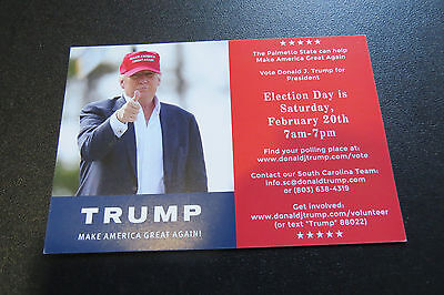 Donald Trump South Carolina Primary Election Voting Day Reminder Card 2 20 16