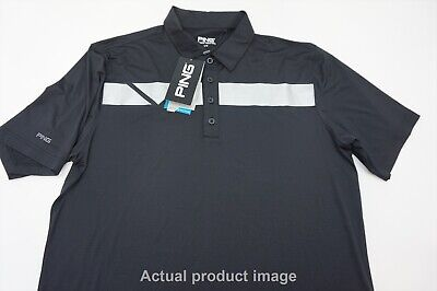 New Ping Golf Polo Mens Size Large Black/White 286A  Shirt Clothing