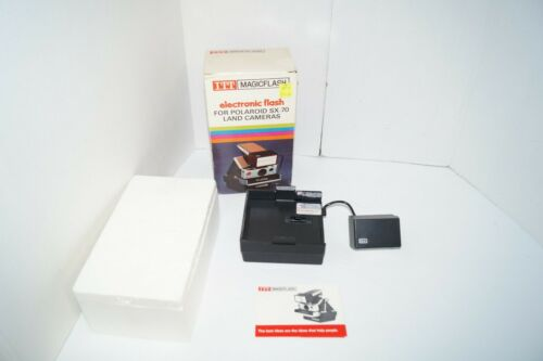 Vintage ITT Magicflash for Polaroid Land Camera SX-70 WITH BOX AND MANUAL