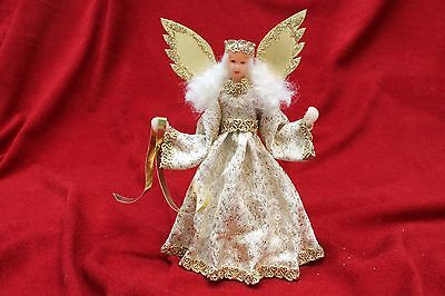 Engel mit Wachskopf - Handarbeit - Rauschgoldengel - Angel Handmade -  17cm