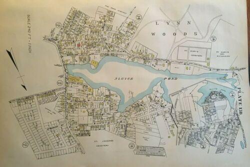 ORIGINAL 1924 LYNN MA PINEGROVE, ST MARY