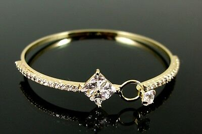 GOLD PLATED BRACELET BY JON RICHARD ENCRUSTED WITH SPARKLING CLEAR CUBIC ZIRCON