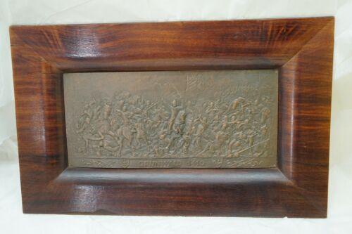 VINTAGE COPPER WALL PLAQUE BATTLE OF 1410 ZALGIRIS TANNENBERG GRUNWALD EMBOSSED