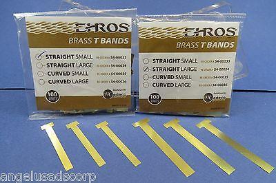 Dental Matrix T Bands Straight Small And Large Kit 2 Bag X 100 Ehros