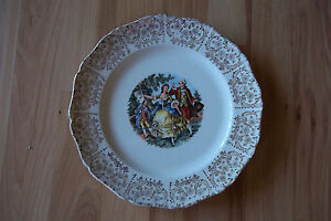 WARRANTED 22 KT ENGLISH PLATE WITH GOLD TRIM