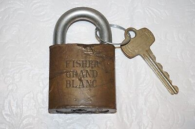 Fisher Body Plant (BEST Padlock FISHER Body Tank Plant Grand Blanc Old GM General Motors & Key    )