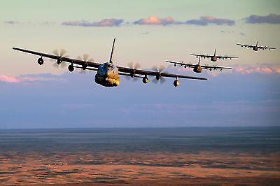 Five MC-130J Commando's Conduct Low-Level Formation Training-522 Special Ops