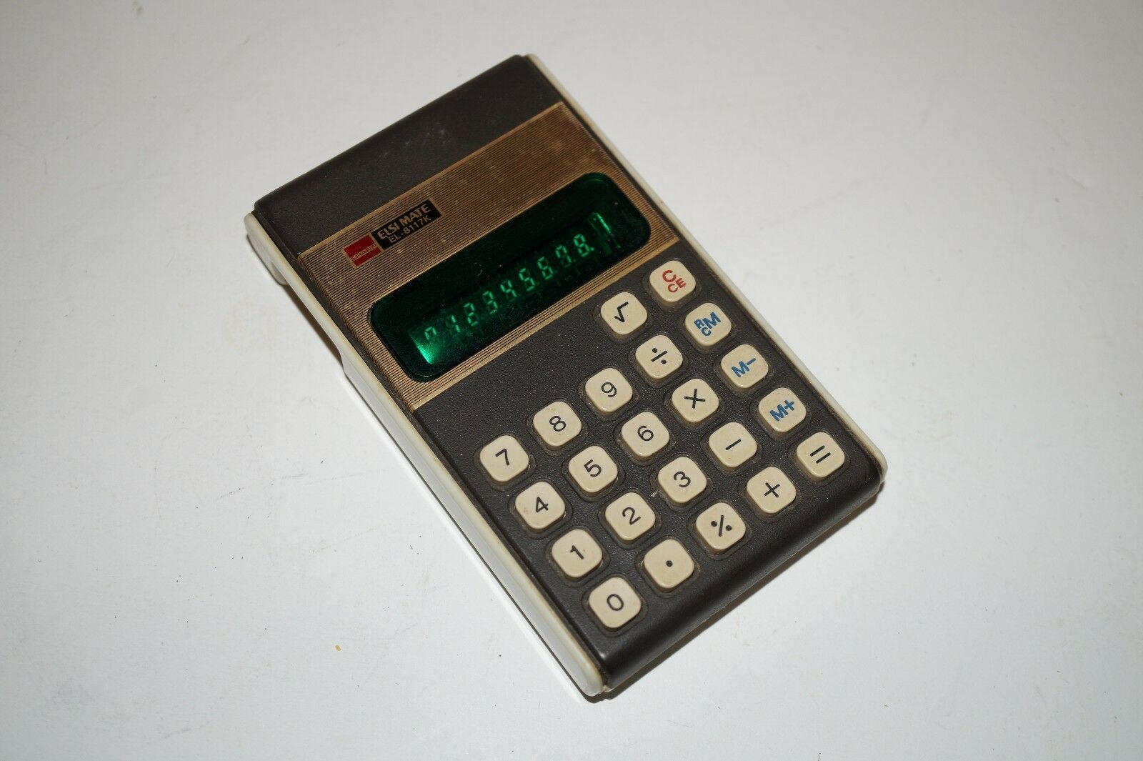 Vintage Calculator Sharp Elsi Mate EL-8117K