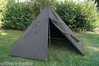 PL poln. Zelt 2-Mann Zweimannzelt Tent Army Shelter Bushcraft Poncho NEUWERTIG