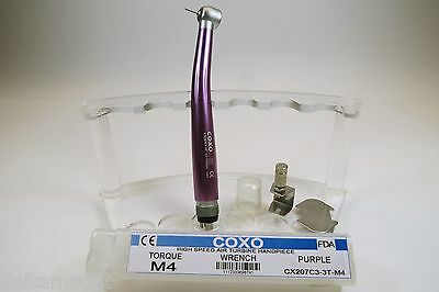 Handpiece 04 Holes High Speed Torque M4 Color Purple Dental Equipment Coxo