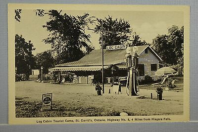 Roadside Log Cabin Tourist Camp St. David's Ontario 4 Miles from Niagara Falls.
