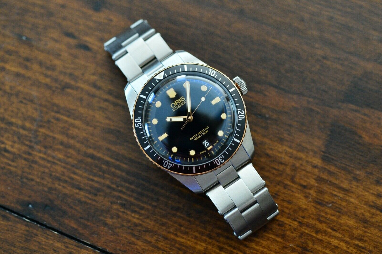 Used Oris Diver 65 Divers Sixty Five Bronze Bezel automatic 40mm dive watch - watch picture 1
