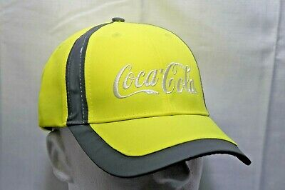 Coca-Cola ballcap - hat - HI Vis Yellow - Safety PPE - Construction