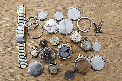 COLLECTION OF VINTAGE LADIES AND GENTS WRISTWATCHES AND PARTS FOR SPARES