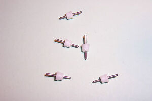 Stand off insulators press fit PTFE type double sided Qty. 5 NOS