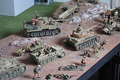 DISPLAY DIORAMA AFRIKA KORPS DESERT BASE AK TOY SOLDIERS KING COUNTRY BRITAINS