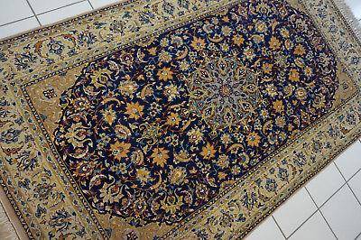 Wunderschöner Original Persischer Isfahan,175x105cm,auf Seide,Teppich,Rug,Tapeto