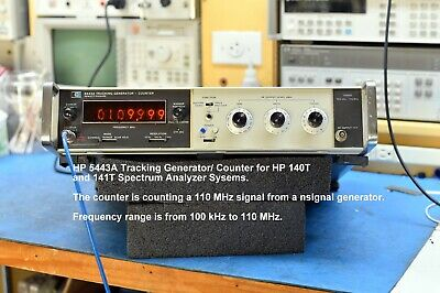 Hp 8443a Tracking Generator - Counter For 140t Or 141t Spectrum Analyzer System