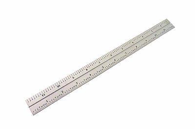 "1//64 1//31 mm PEC USA Machinist Ruler 300 mm 12/"" Metric English E//M Rigid .5mm"