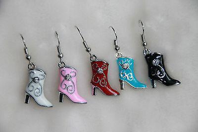 Ohrringe Cowboy - Stiefel versch. Farben  *Fasching  Karneval / Kostüm Cowgirl*