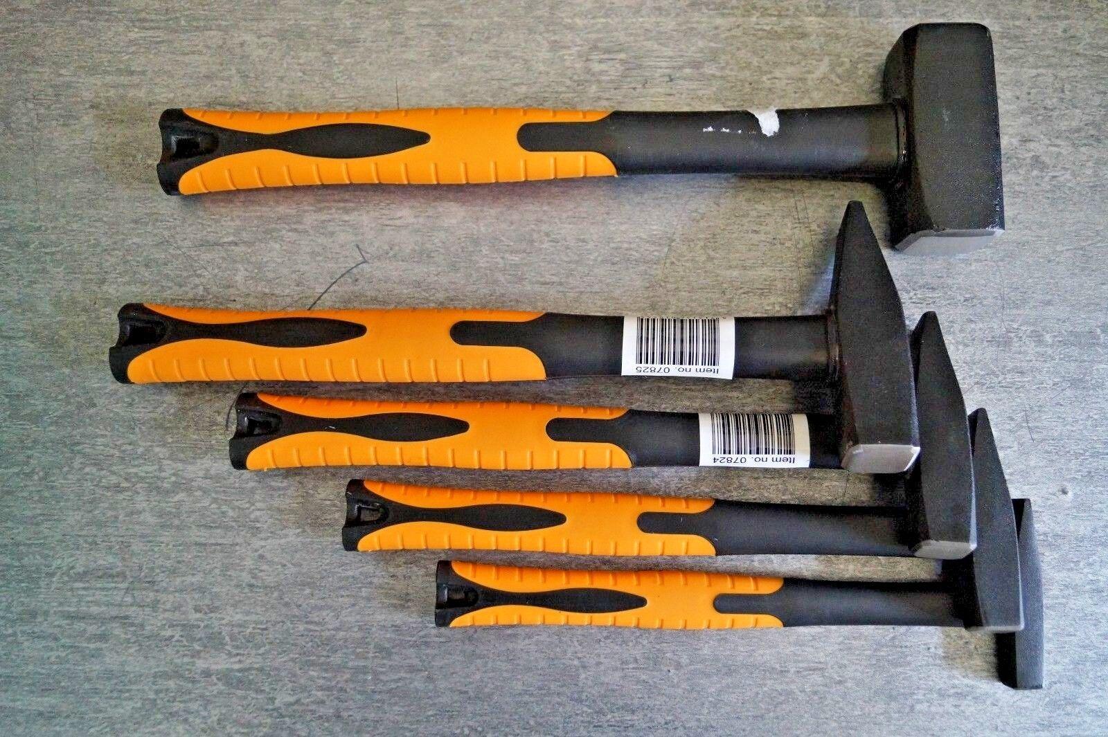 Fäustel Schlosserhammer Hammer Satz 100 200 300 500 1000 gr Profi  5 tlg Set