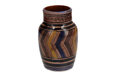 An old Middle Eastern pottery vase Hand painted Vintage