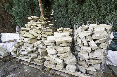 Yorkstone rockery walling